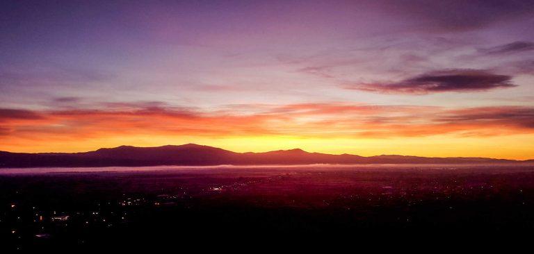 Sonnenaufgang in Mazedonien