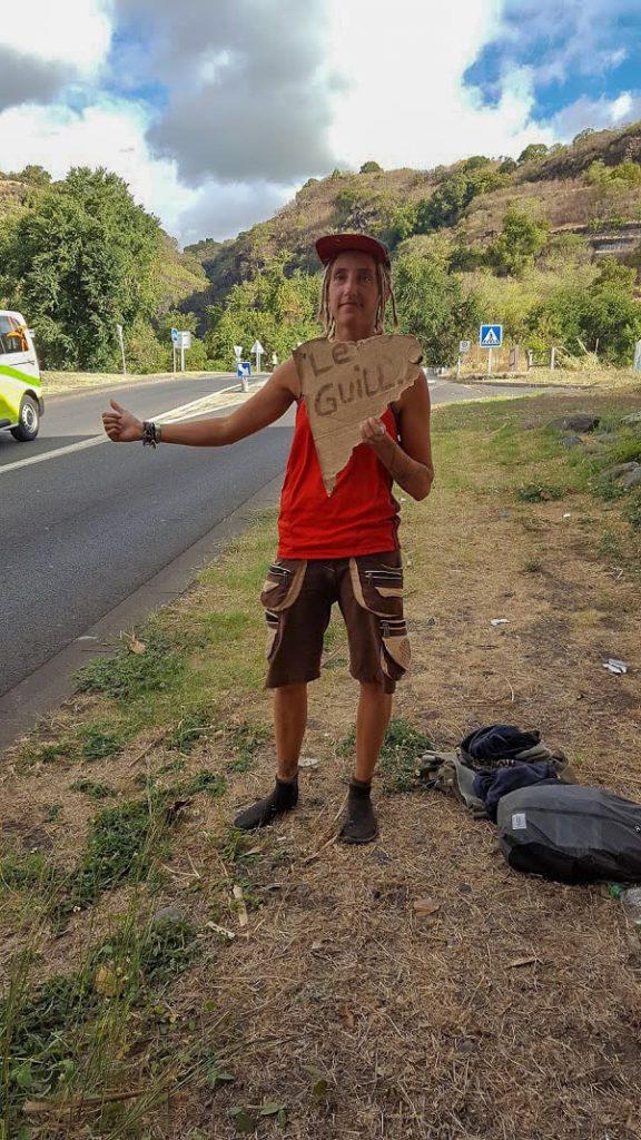 hitchhiking in La Reunion