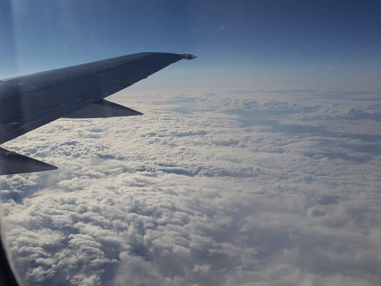 Wolken aus dem Flugzeug