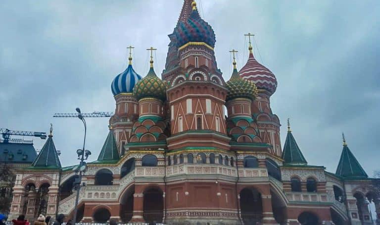 die berühmte Basilius Kathedrale in Moskau