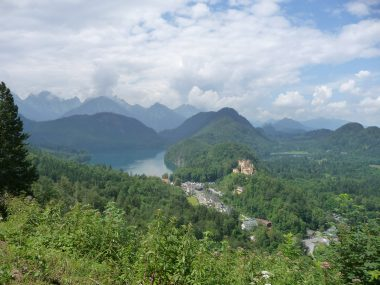 overview of Walchensee in Germany