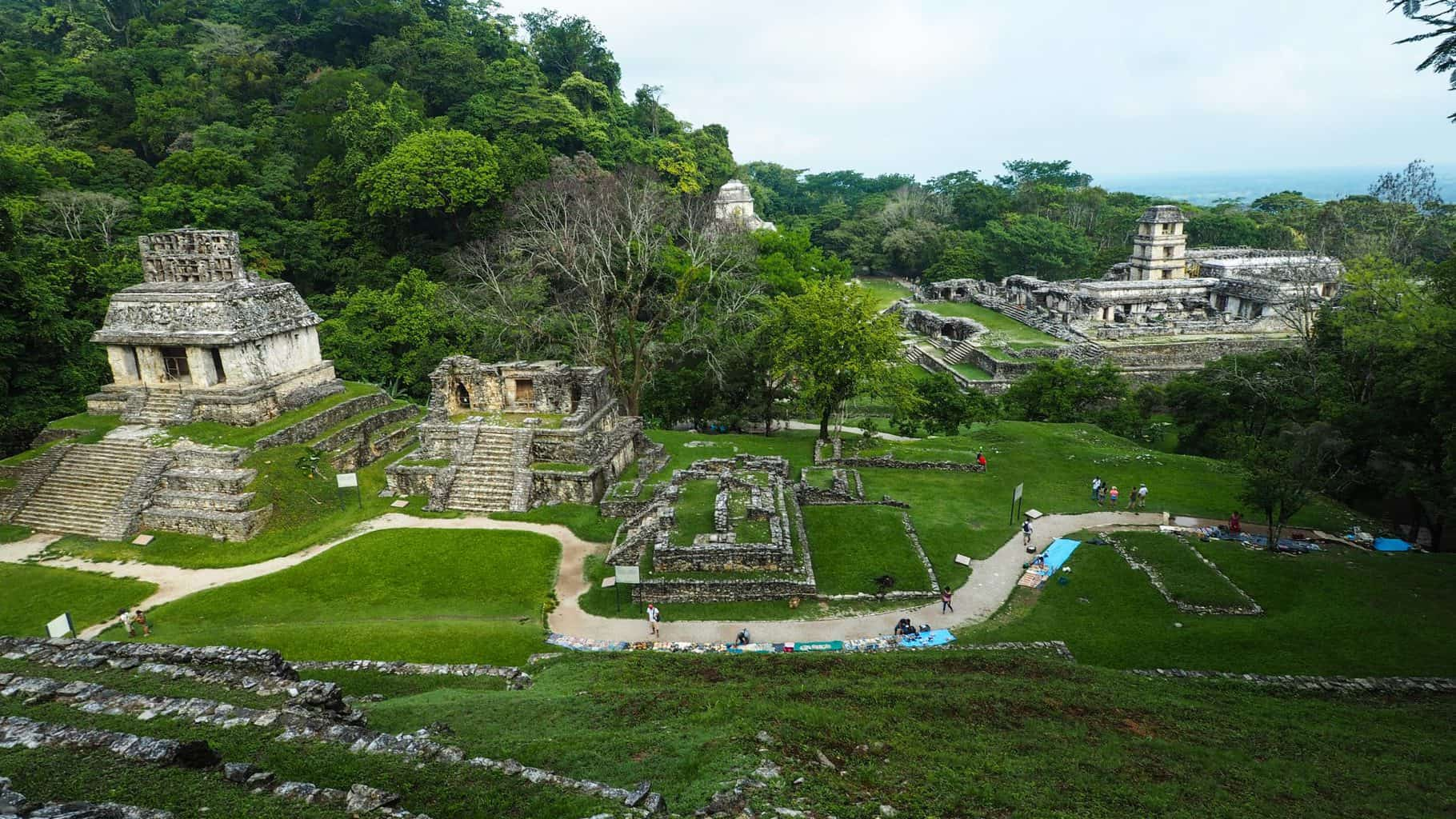 overview of Palenque in Mexico