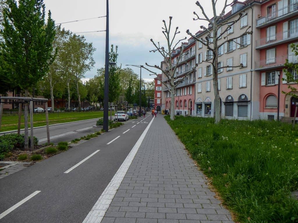 Fahrradweg in Strasbourg