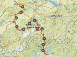 Komoot Karten E-bike Europatour mit Hund 2019 – Schweiz