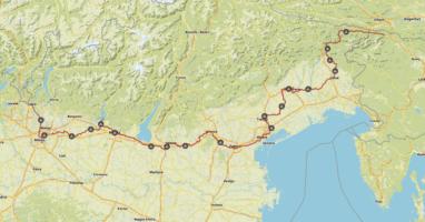 Komoot Karten E-Bike Europatour mit Hund 2019 – Italien