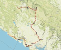 Komoot Karten E-Bike Tour Europa mit Hund 2019 – Montenegro