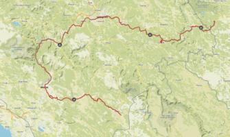 Komoot Karten E-Bike Europatour mit Hund 2019 – Bosnien und Herzegowina