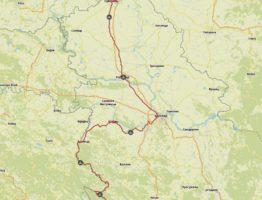 Komoot Karten E-Bike Europatour mit Hund 2019 – Serbien