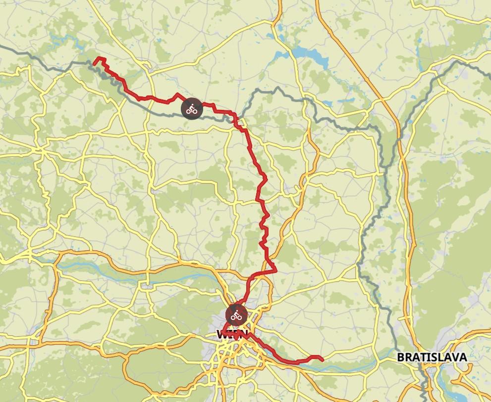 Komoot Karten E-Bike Europatour mit Hund 2019 – Österreich