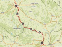 Komoot Maps E-Bike Europe Tour with my Dog 2019 – Greenways Vienna Prague (Praha Wien)